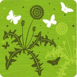 Ilustração floral do fundo ilustração royalty free