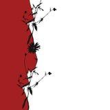 Ilustração floral do silhuette Fotografia de Stock Royalty Free