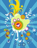 Ilustração floral do vetor ilustração royalty free