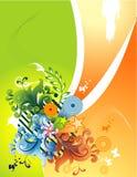 Ilustração floral do vetor ilustração stock