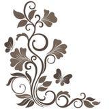 Ilustração floral do vetor no sepia Fotos de Stock