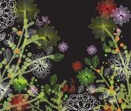 Ilustração floral escura bonita Foto de Stock Royalty Free