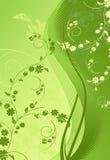 Ilustração Floral-grunge verde ilustração do vetor