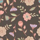 Ilustração floral sem emenda do vetor do teste padrão Foto de Stock Royalty Free