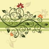Ilustração floral verde do vetor Imagem de Stock Royalty Free