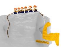 Ilustração forte do canteiro de obras 3d Foto de Stock Royalty Free