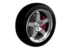 ilustração Foto-realística do vetor da roda de carro Imagem de Stock Royalty Free