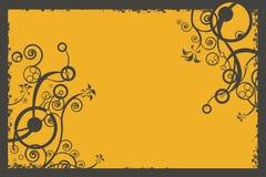 Ilustração, fundo, disposição, projeto floral ilustração stock