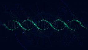 Ilustração futurista da estrutura de ADN, relação da ficção científica, fundo do vetor ilustração stock