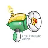 Ilustração futurista retro do vetor da arma Fotografia de Stock Royalty Free