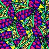 Ilustração geométrica abstrata do fundo Imagens de Stock Royalty Free