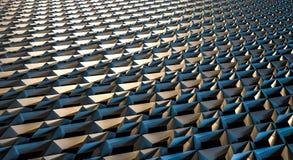 Ilustração geométrica abstrata do fundo 3d Fotos de Stock