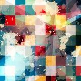 Ilustração geométrica abstrata do vetor do fundo dos grafittis Imagem de Stock