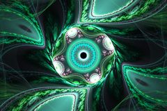 Ilustração geométrica do fractal fotografia de stock royalty free