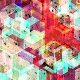 Ilustração geométrica do fundo do estilo abstrato do grunge Fotos de Stock Royalty Free