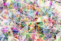 Ilustração geométrica do fundo do estilo abstrato do grunge Imagens de Stock Royalty Free