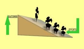 Ilustração gerada por computador colorida que mostra a relação dos esforços e do sucesso ilustração stock