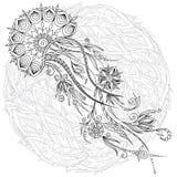 Ilustração gráfica abstrata das medusa no vetor Foto de Stock