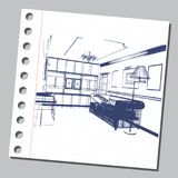 Ilustração gráfica com arquitetura decorativa 15 Imagens de Stock
