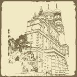 Ilustração gráfica com arquitetura decorativa 16 Fotos de Stock Royalty Free