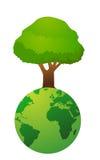 Gráfico do ambiente global Fotografia de Stock