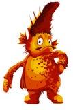 Ilustração grande do estilo dos desenhos animados do caráter do monstro dos peixes Imagens de Stock Royalty Free
