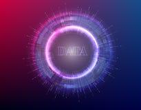 Ilustração grande do vetor do fundo dos dados Córregos da informação Tecnologia futura Elemento do Fractal com código binário Imagem de Stock Royalty Free