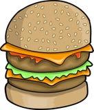 Ilustração grande do vetor do Hamburger Foto de Stock