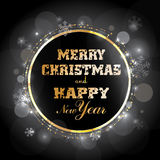 Ilustração greating do Natal Fotos de Stock Royalty Free