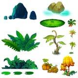 Ilustração: Grupo de elementos natural isolado 3 ilustração royalty free