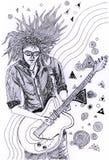 Ilustração-Guitarrista Ilustração Stock
