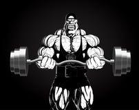 Ilustração: halterofilista com um barbell Imagem de Stock Royalty Free