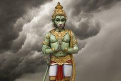Ilustração hindu de Hanuman do deus imagens de stock royalty free