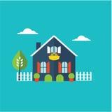 Ilustração home da casa ilustração royalty free