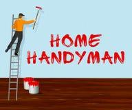 Ilustração home de Means House Repairman 3d do trabalhador manual Fotos de Stock
