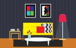 Ilustração home do design de interiores Foto de Stock Royalty Free