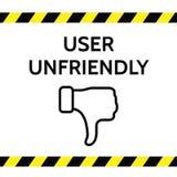 Ilustração hostil do vetor do conceito do usuário Foto de Stock Royalty Free
