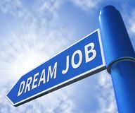 Ilustração ideal de Job Meaning Best Jobs 3d Ilustração Stock
