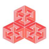 Ilustração impossível ou undecidable do vetor do objeto A figura da ilusão ótica isolou-se foto de stock