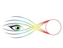 Ilustração impressionante do olho. Fotografia de Stock Royalty Free