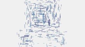 Ilustração incorporada da empresa do negócio do conceito da nuvem da palavra de computador Imagem de Stock Royalty Free
