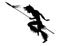 Ilustração indiana da dança com silhuetas pretas Imagens de Stock
