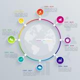 Ilustração Infographic Fotos de Stock