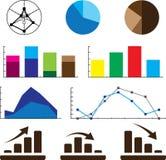 Ilustração infographic do detalhe Gráficos da informação Foto de Stock Royalty Free