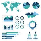 Ilustração infographic do vetor do detalhe. Gráficos do mapa do mundo e da informação Imagens de Stock Royalty Free