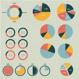 Ilustração infographic do vetor do detalhe. Gráficos do mapa do mundo e da informação Fotografia de Stock
