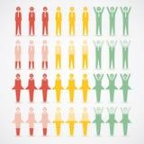 Ilustração infographic do vetor do humor das mulheres dos homens Fotos de Stock Royalty Free