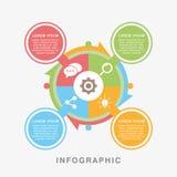 Ilustração infographic do vetor do gráfico dos dados do negócio ilustração stock