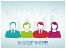 Ilustração infographic humana do vetor Foto de Stock Royalty Free