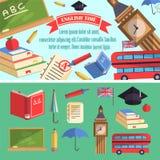 Ilustração inglesa da educação do tempo Fotografia de Stock Royalty Free